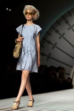 I'm not usually a fan of Fendi, but the pleating on this dress is pretty awesome.