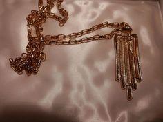 "Vtg MONET Goldtone CHAIN Necklace 29"""