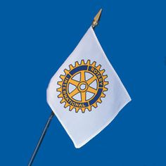 Russell-Hampton Co. Rotary Club Supplies: 4in. x 6in. Miniature Rotary International Flag