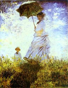monet The Walk Lady with a Parasol 1875