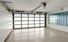 Garage rooftop deck house pinterest garage rooftop for Translucent garage doors