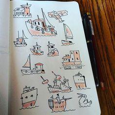 #boat #doodles by bearmanbeast