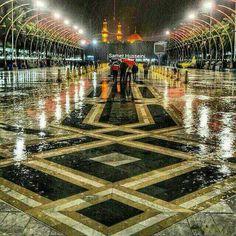 بین الرحرمین در یک شب بارانی..