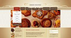 Brown Bakery Web Design