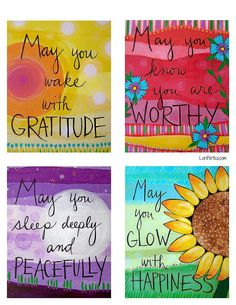 This is a lovely set of 6 greeting cards from artist Lori Portka.