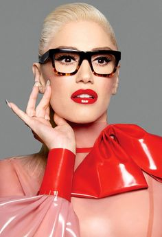 Gwen Stefani talks with Stylish about her new glasses for L. and gx by Gwen Stefani — plus, her plans for a ki New Glasses, Girls With Glasses, Glasses Shop, Glasses Style, Glasses Online, Lunette Style, Fashion Eye Glasses, Eye Frames, Wearing Glasses