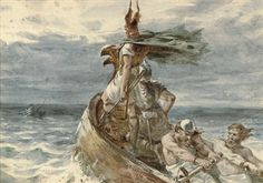 View Vikings heading for land by Frank Dicksee on artnet. Browse upcoming and past auction lots by Frank Dicksee. Frank Dicksee, Viking Warrior, Viking Age, Greek Warrior, Viking Religion, Portrait, Ancient Vikings, Old Norse, Pre Raphaelite