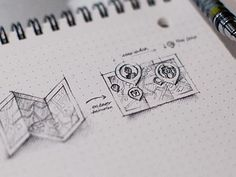 Map Icon Sketch by Eddie Lobanovskiy