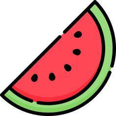 Watermelon free vector icons designed by Freepik Cute Food Drawings, Cute Little Drawings, Cute Cartoon Drawings, Cute Kawaii Drawings, Cute Animal Drawings, Art Drawings Sketches, Desenho Kids, Griffonnages Kawaii, Fruit Icons