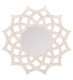 PLASTIC WALL MIRROR IN ANTIQUE BEIGE COLOR 76X6X76