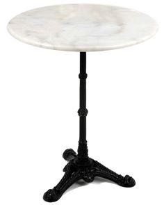 Table du bistrot fonte et marbre 60x72cm