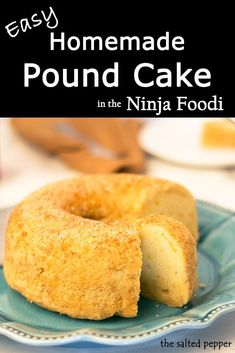 Need a super easy & delicious recipe for pound cake? This homemade pound cake is simple perfection! Use the Ninja Foodi or pressure cooker. Homemade Pound Cake, Pound Cake Recipes, Cooking Cake, Cooking Recipes, Grill Recipes, Easy Delicious Recipes, Yummy Food, Eid Food, Gluten Free Cakes