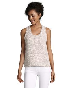 BALENCIAGA Pink And White Metallic Tweed Sleeveless Blouse'. #balenciaga #cloth #blouses