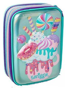 Smiggle | Pinky Purple Unicorn & Milkshake | Maxi Triple Up Hardtop Pencil Case from Maxmilli Gift Collection  Brand: SmiggleUK Color: Pinky Purple Unicorn & Milkshake Features: Smiggle Maxi Triple Up Hardtop Pencil Case from Maxmilli Gift Collection This incredible, super sized hard top pencil case features am Pencil Box For Kids, Pencil Boxes, Unicorn Pencil Case, Cute Pencil Case, Unicorn Milkshake, Kids Toy Shop, Free School Supplies, Baby Dolls For Kids, Notebook Cover Design