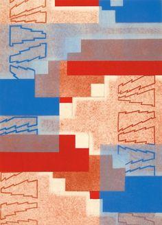 E.A. Seguy Prismes 37 Original hand-coloured pochoir lithograph for 'Prismes'. Published Charles Moreau, #Paris c. #1930 #pattern #design #textiles #colour #abstract