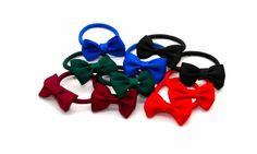 Pair of Mini Bow Elastics -Tegen Accessories-Tegen Accessories