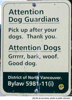 Sign in North Van
