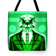 Abstract Hawk Tote Bag Bird Bag Green Beach Bag Shopping Tote by Filip Aleksandrov