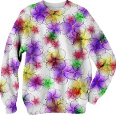 CANDY FLOWERS LONG SLEEVE SWEATSHIRT $68.00
