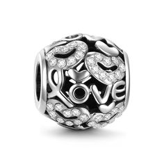 Hearts And Love Charm 925 Sterling Silver
