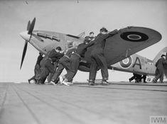 Ww2 Aircraft, Fighter Aircraft, Military Aircraft, Fighter Jets, Royal Navy Aircraft Carriers, Hawker Hurricane, Supermarine Spitfire, Flight Deck, World War Two