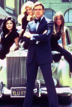 Farrah Fawcett and two other ladies with Lee Majors for a commercial for 'The Six Million Dollar Man' Tv Show.