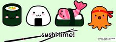 Get this Cute Sushi Facebook Covers for your profile from Get-Covers.com.