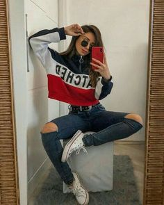 How to wear fall fashion outfits with casual style trends Teenage Outfits, Teen Fashion Outfits, Fall Outfits, Fashion Fashion, Paris Outfits, Tumblr Fashion, Fashion Stores, Swag Outfits, Grunge Outfits