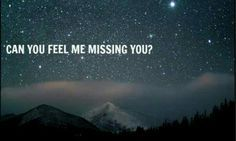 I know you feel when I miss you, because you always text right at that very moment! I can't explain it, but I most definitely love it! I'm missing you now my love 8