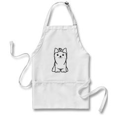 Yorkshire Terrier Dog Cartoon Aprons