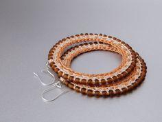Large Crochet Hoop Earrings, 1001ArtBeads