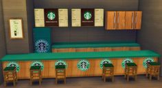 My Sims 4 Blog: Updated - Bar Added - Starbucks Set by SerialSimmer
