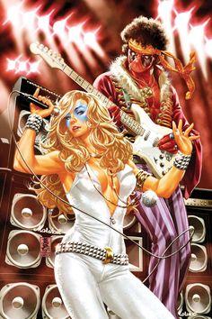 astonishingx:  Dazzler and Deadpool Hendrix by Mark Brooks