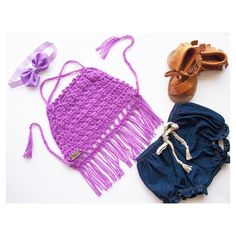 What a match of items to make a fab outfit!!!! Crochet Halter Tops come in a…