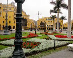 Lima, Peru.. In the plaza de armas..