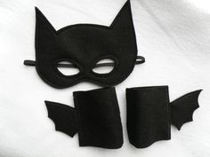 Adult Size Batman Mask and Cuffs Set by Mahalo on Etsy