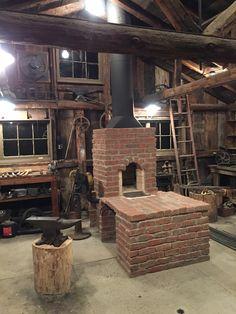 Brick Coal Forge. Side Draft.                                                                                                                                                                                 More