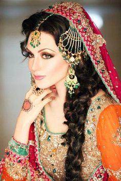 """Aisha Linnea Akhter"" latest beautiful bridal dresses and makeup"