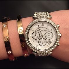 Michael Kors Accessories - 🆕 Michael Kors Parker Silver Glitz Watch Camille