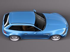 Z3M Coupe. rendering. For looking at mods, wheels, roof, etc.