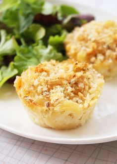 Mac and Cheese Muffins with Cheddar Cheese, Parmesan and Pureed Cauliflower or Sweet Potatoes :)
