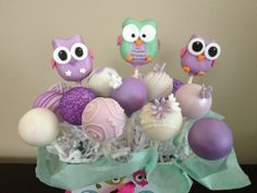 Cute owl cake pops  by Haute Pop Couture