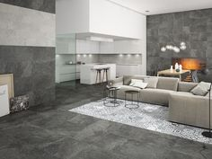 "Heritage Taco Black | Porcelaine - Porcelain | Fini naturel - Natural Finish | 6.5""x6.5"" | $5.99/p.c./sqft #black #noir #white #blanc #modern #moderne #contemporary #contemporain #heritage #taco #deco #déco #6.5x6.5 #naturel #natural #tiles #livingroom #salon"