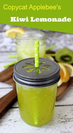 Copycat Applebee's Kiwi Lemonade - If you are a fan of Applebee's Kiwi Lemonade, you can now enjoy this drink at home with this copycat recipe. It's freshly made lemonade, with fresh kiwi pulp makes for a delightfully tangy beverage and a step away from the ordinary.