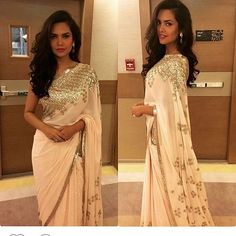 @egupta in Muted Soft pink saree Evening wear 2015