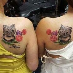 So very cute a mother & daughter tattoo or best friends tattoo