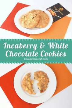 Incaberry (golden berry) and white chocolate cookies - delicious sweet treat, great to add to the Christmas biscuit options.