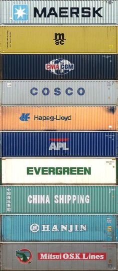 The top ten container shipping companies by TEU equivalents, in order. Container images taken from Eiji Hoshiai& dry freight page. Shipping container homes Container Design, Cargo Container, Container Buildings, Container Architecture, Sustainable Architecture, Residential Architecture, Contemporary Architecture, Sea Containers, Casas Containers