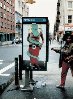 DKNY Bus Stop by Kaws
