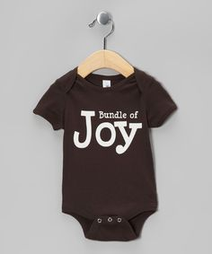 Brown 'Bundle of Joy' Bodysuit | Daily deals for moms, babies and kids